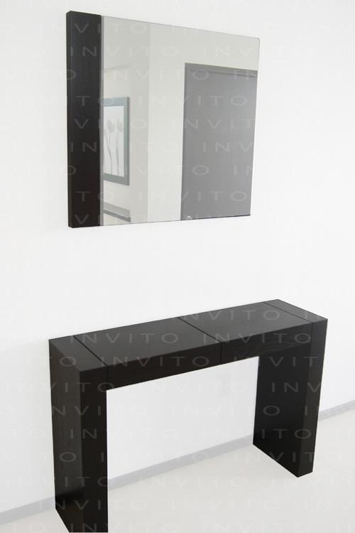 Invito muebles minimalistas muebles a la medida muebles for Mesa para recibidor
