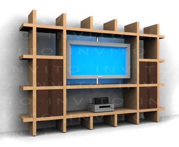 Muebles de Television centros de entretenimiento y libreros