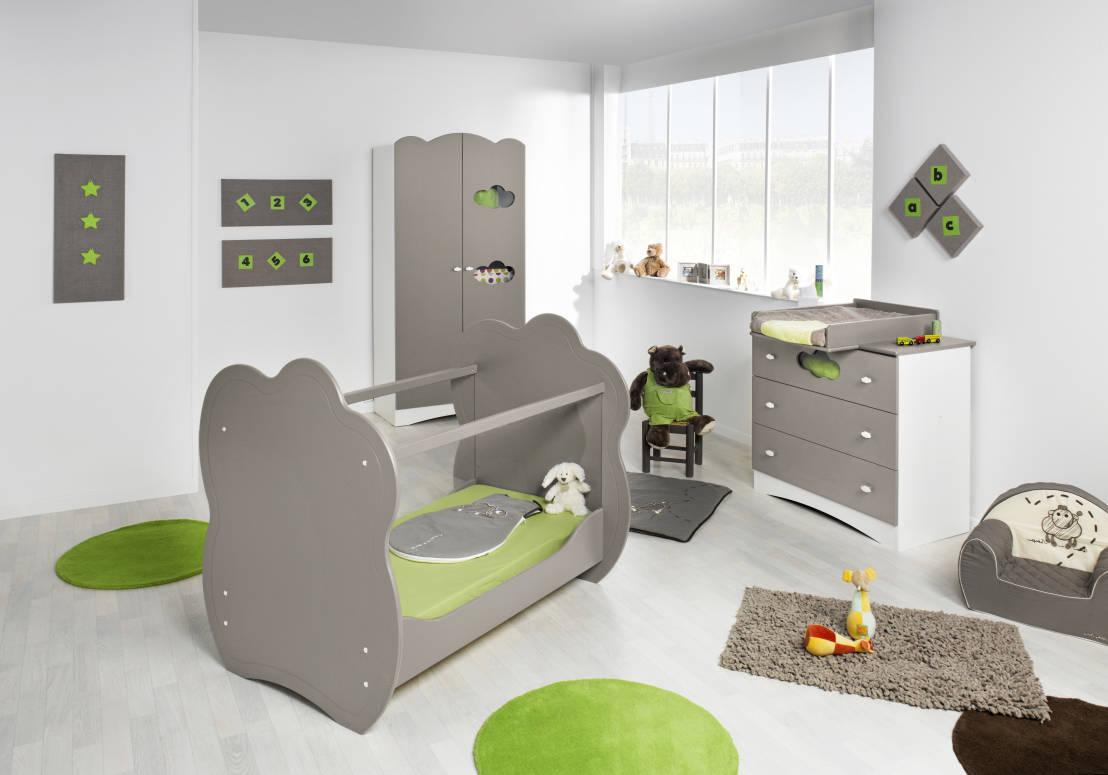 dormitorio de beb completo modelo altea en color lino camas y cunas de mobikids